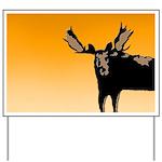 Sunset Moose Yard Sign