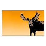 Sunset Moose Sticker (Rectangle 50 pk)
