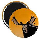Sunset Moose Magnet