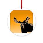 Sunset Moose Round Ornament
