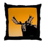 Sunset Moose Throw Pillow