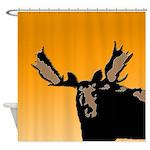 Sunset Moose Shower Curtain