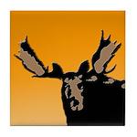 Sunset Moose Tile Coaster