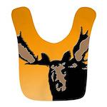 Sunset Moose Polyester Baby Bib
