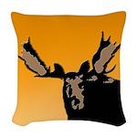 Sunset Moose Woven Throw Pillow