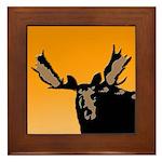 Sunset Moose Framed Tile