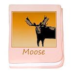 Sunset Moose baby blanket