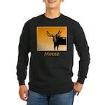 Sunset Moose Long Sleeve Dark T-Shirt