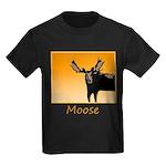 Sunset Moose Kids Dark T-Shirt