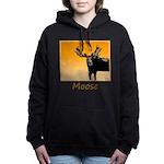 Sunset Moose Women's Hooded Sweatshirt