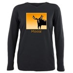Sunset Moose Plus Size Long Sleeve Tee