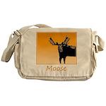 Sunset Moose Messenger Bag