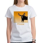 Sunset Moose Women's Classic White T-Shirt