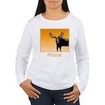 Sunset Moose Women's Long Sleeve T-Shirt
