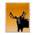 Sunset Moose Throw Blanket