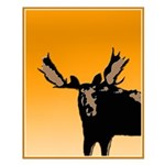 Sunset Moose Small Poster