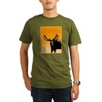 Sunset Moose Organic Men's T-Shirt (dark)