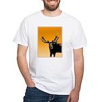 Sunset Moose White T-Shirt