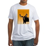 Sunset Moose Fitted T-Shirt
