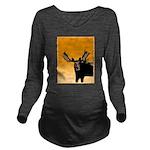Sunset Moose Long Sleeve Maternity T-Shirt