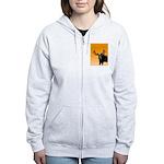 Sunset Moose Women's Zip Hoodie