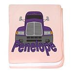 Trucker Penelope baby blanket