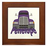 Trucker Penelope Framed Tile
