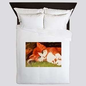 Pretty Kitty Queen Duvet