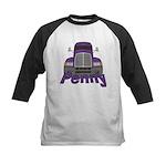 Trucker Penny Kids Baseball Jersey