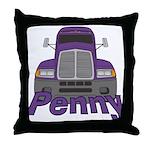 Trucker Penny Throw Pillow