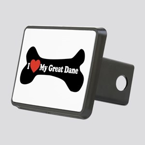 I Love My Great Dane - Dog Bone Rectangular Hitch