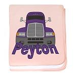 Trucker Peyton baby blanket
