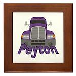 Trucker Peyton Framed Tile