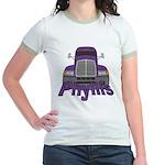 Trucker Phyllis Jr. Ringer T-Shirt