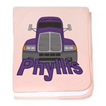Trucker Phyllis baby blanket