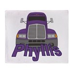 Trucker Phyllis Throw Blanket