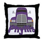 Trucker Phyllis Throw Pillow