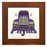 Trucker Phyllis Framed Tile