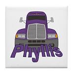 Trucker Phyllis Tile Coaster