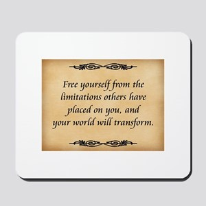 Free Yourself Mousepad