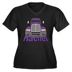Trucker Rachel Women's Plus Size V-Neck Dark T-Shi