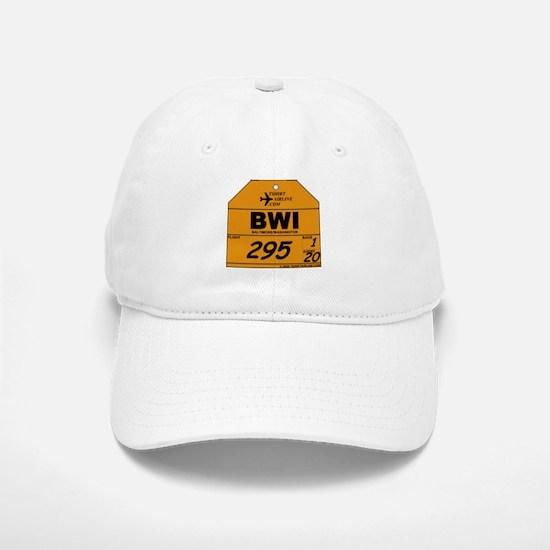 BWI Baltimore / Washington Airline Luggage Tag Baseball Baseball Cap
