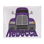 Trucker Rebecca Throw Blanket