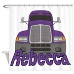 Trucker Rebecca Shower Curtain