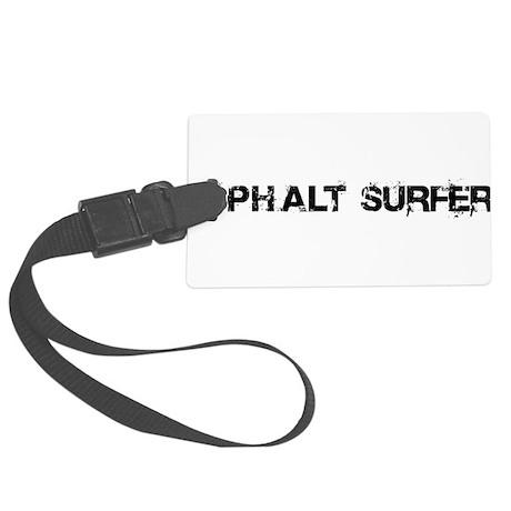 Asphalt Surfer Large Luggage Tag
