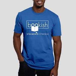 Bookish Men's Fitted T-Shirt (dark)