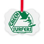Green Surfers 10 Picture Ornament