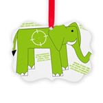 Elephant Picture Ornament