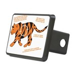 Tiger Facts Rectangular Hitch Cover