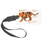 Tiger Facts Large Luggage Tag